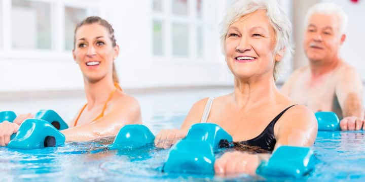 Pools offer both fitness, relief for older adults