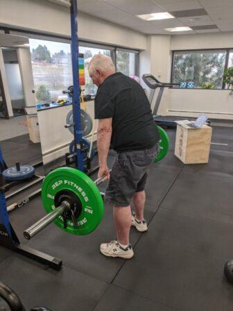 Man lifting at Heather Lane PT