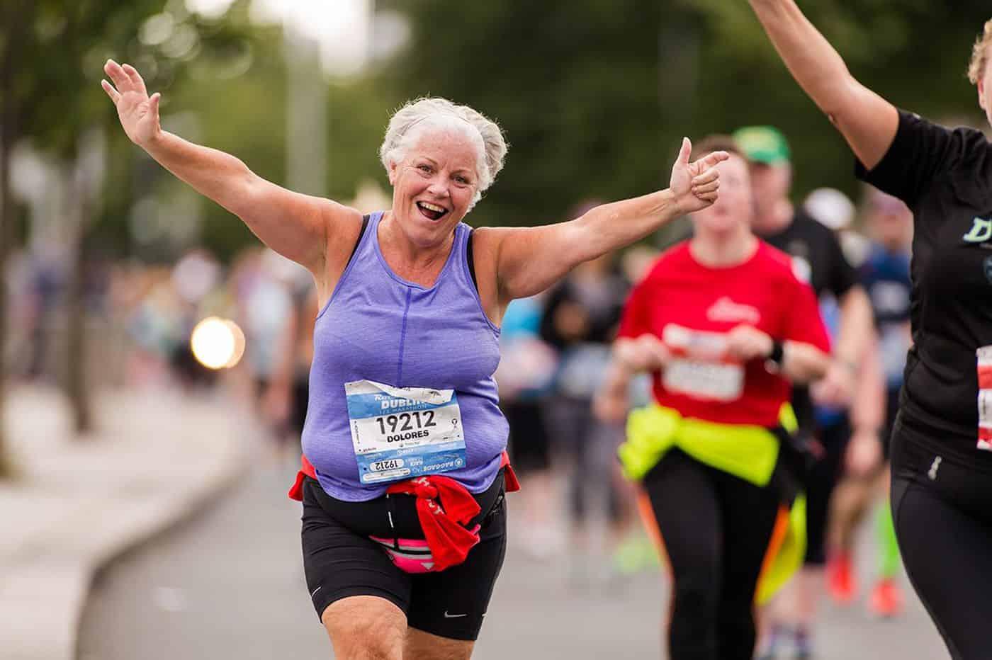 Older person running